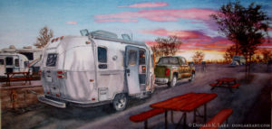 Arizona Campground Sunset