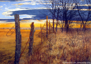 Fence Line Sunset Fall River